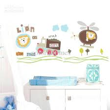 baby boy wall decal lion truck airplane removable wall decal sticker baby nursery baby boy name baby boy wall decal