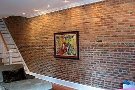 faux brick panels brick interior wall