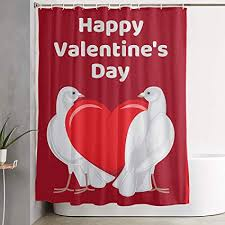 Shower Curtain Size Chart Amazon Com Pinata Valentines Day Pigeon Love Shower