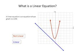 what is a linear equation
