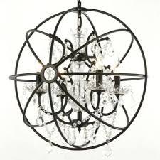 iron globe chandelier bronze globe chandelier electric