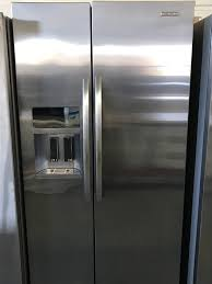 kitchenaid ksc24c8eyy side by side refrigerator stainless steel s 1031