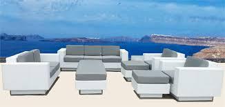 patio furniture white. Impressive White Modern Patio Furniture Wicker Sectional Sofa S