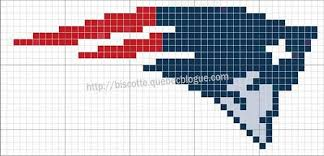 New England Patriots Knitting Chart By Biscotte_cie Via