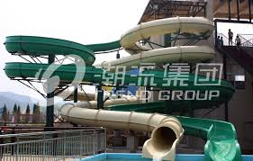 china white color aqua park slide family play indoor fiberglass water slides 6m height supplier