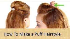 How To Make A Hair Style How To Make A Puff Hairstylehow To Make A Perfect Puff Hairstyle 8062 by wearticles.com