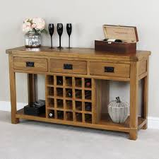 Sofa table with wine storage Side Rustic Oak Buffet With Wine Rack Pinterest Rustic Oak Buffet With Wine Rack Home Pinterest Wine Rack