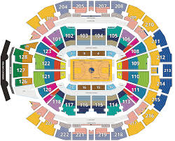 Chase Center Seating Chart San Francisco Tickets Map Golden State Warriors