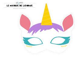 Masque Licorne Imprimer Licornes Masque Et Anniversaires