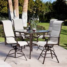 patio bar height chairs outdoor bar height table and chairs ideas