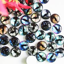 "12mm <b>Mixed</b> ""The world in your eyes"" Round Glass <b>Cabochon</b> ..."