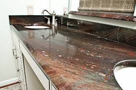 wild chiante granite with an extreme beveled edge