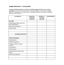 Sample Monthly Household Budget Basic Monthly Budget Spreadsheet Basic Monthly Budget Template Free
