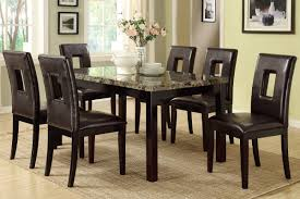 Marble Top Kitchen Table Set Poundex F2093 F1051 Faux Marble Top Dining Table And Chairs 7 Pc Set