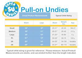 Training Pants Size Chart Dumps And Trucks Pull On Potty Training Pants