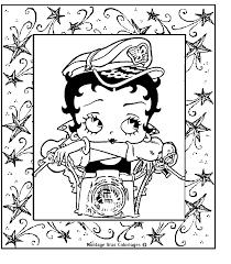 Betty Boop Betty Boop Vintage Kleuren Kleurplaten Y Kleuren