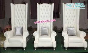 modern high back leather wedding chair