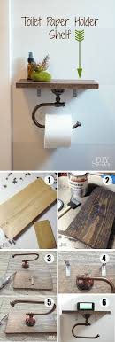 diy toilet paper holder with shelf