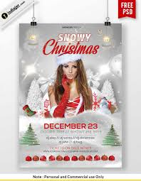 Free Printable Christmas Party Flyer Templates Poster