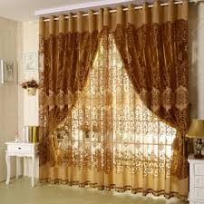 Modern Curtain Panels For Living Room Furniture Modern Rose Cotton Window Curtain Panel Black Modern
