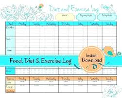 Food Journal Template For Weight Loss Daily Log Biggest Loser 2 A