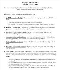 College Scholarship Essays Examples Of College Scholarship Essays High School Scholarship Essay