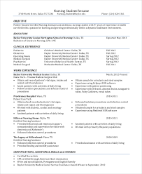Samples Of Objectives In Resumes Best Of Gallery Of Resume Objective Example 24 Samples In Pdf Word Nursing