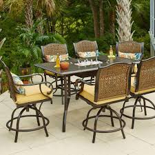 outdoor furniture home depot. hampton bay vichy springs 7piece patio high dining setfrs80589ahst the home depot outdoor furniture i