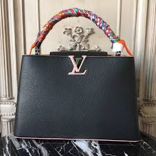 3a lv handbag pink louis vuitton real leather mm capucines bag m94714 black with tote