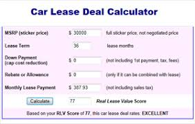 car leases calculator lease deal calculator best car deals 2018