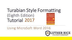 Conquer Turabian Formatting A Written Paper
