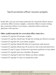 Top 8 correction officer resume samples In this file, you can ref resume  materials for ...
