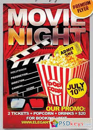 Free Movie Night Flyer Templates Movie Night Flyer Psd Template Facebook Cover Free