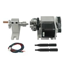 Two phase 42 stepper motor (<b>4</b>:1) K-50 44mm 3 Jaw Chuck <b>CNC</b> ...