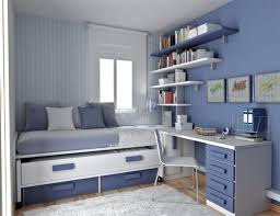 best sample bedroom furniture for small room blue colored interior