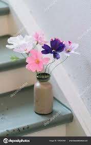 Paper Flower Bouquet In Vase Crepe Paper Flower Bouquet Stock Photo Ecoelfen 187063054