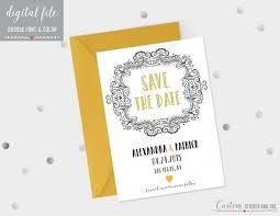 printable 5x7 save the date choose colors and fonts diy wedding digital file printable wedding file wp 14