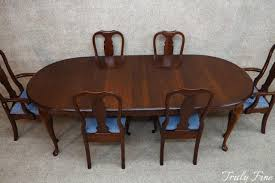 pennsylvania house solid cherry dining table 6 chairs 2 leaves