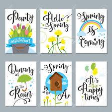 Spring Photo Cards Stock Illustration