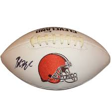 Baker Mayfield Autographed Cleveland Browns Logo Football - Beckett ...
