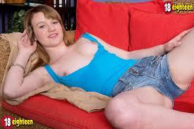 Shy teenage girl Maci Greater amount show her racks and widening.