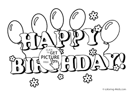 Small Picture birthday printables coloring pages with balloons for kids