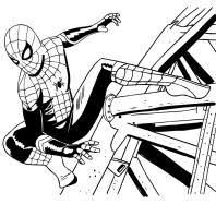 Spiderman cartoon coloring game is similar to coloring pages online: Spider Man Far From Home Coloring Page