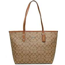 Coach Signature Zip Tote F36876 Khaki Brown