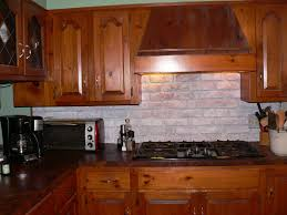 Brick Backsplash Kitchen Styles With Gray Brick Backsplash Great Home Decor