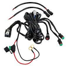 led light wiring harness with relay and weatherproof switch dual Truck Wiring Harness led light wiring harness with weatherproof switch and relay dual output, dt connector