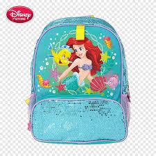 Ariel Minnie Mouse Rapunzel Flounder Mickey Mouse, Blue Lake Disney  schoolbag girls, blue, fashion Girl png