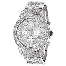iced out watches luxurman mens diamond watch 1 25ct amazon co uk iced out watches luxurman mens diamond watch 1 25ct