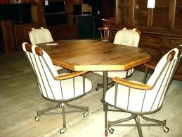 dining room table and chairs with casters dining table on casters