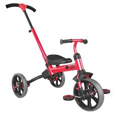 <b>Yvolution</b> Y <b>Velo Flippa</b> Red 4-in-1 Push Trike to Balance Bike